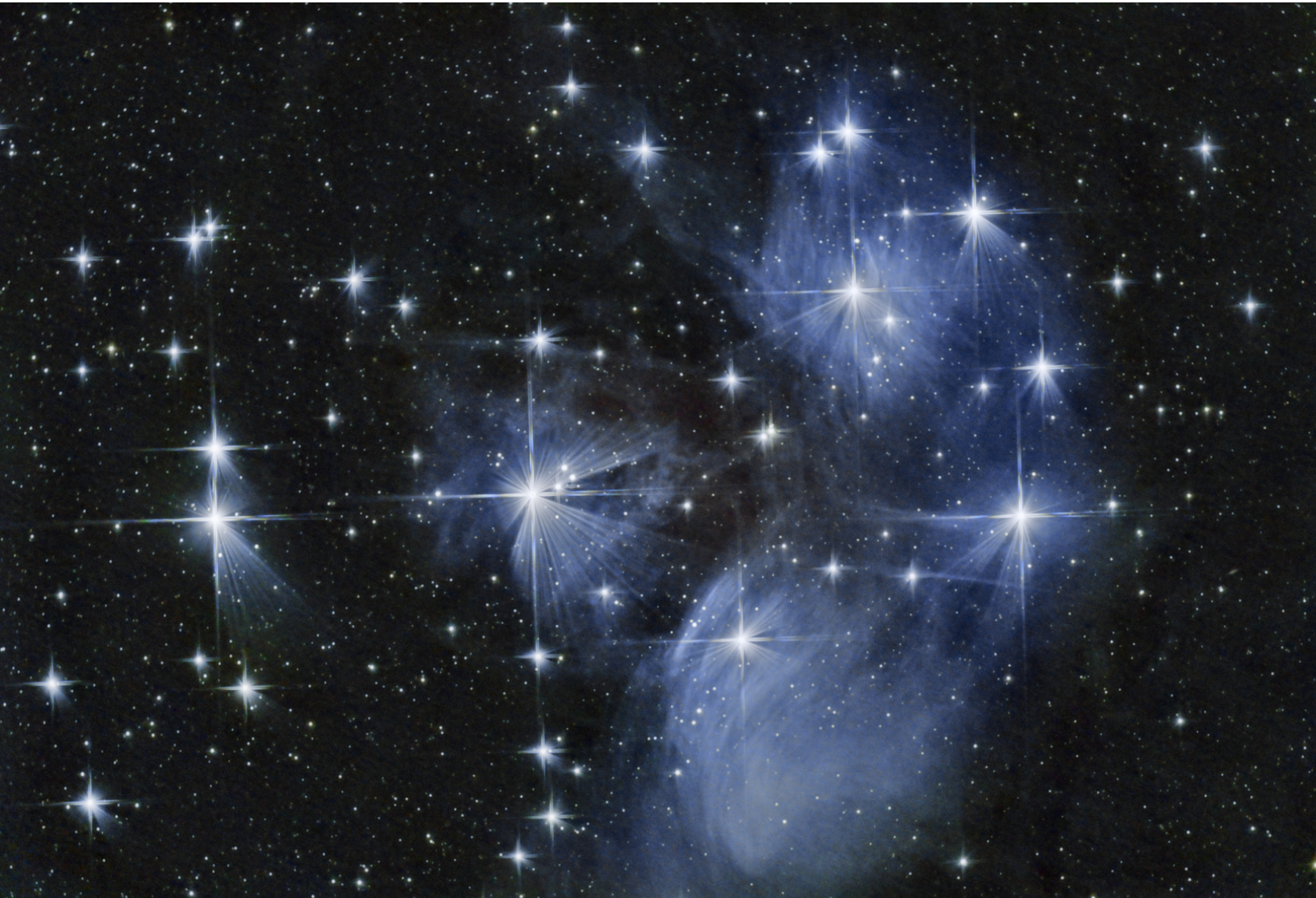 Star Cluster Pleiades, photo taken by Ethan Catalanello