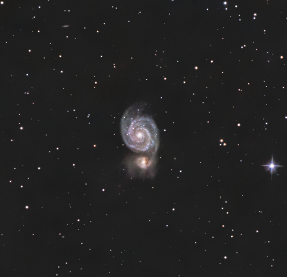 Whirlpool Galaxy, photo taken by Ethan Catalanello